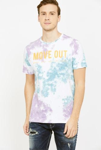 LEE COOPER Men Regular Fit Crew Neck T-shirt with All-Over Print