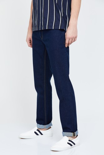 BLACKBERRYS URBAN Solid Slim Straight Jeans