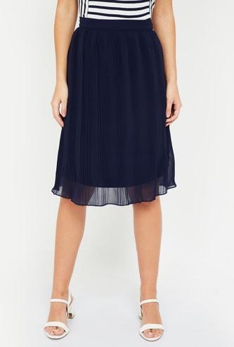 MS. TAKEN Pleated Layered Skirt