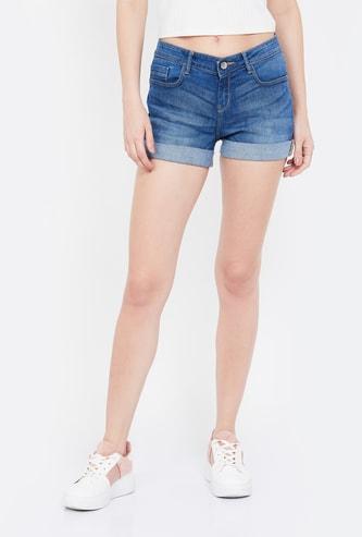JEALOUS 21 Stonewashed Skinny Fit Shorts