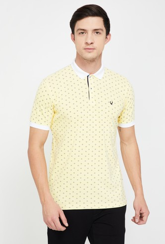 ALLEN SOLLY Printed Regular Fit Polo T-shirt