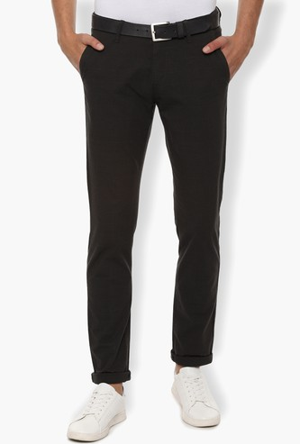 VH SPORTS Checked Slim Tapered Chinos