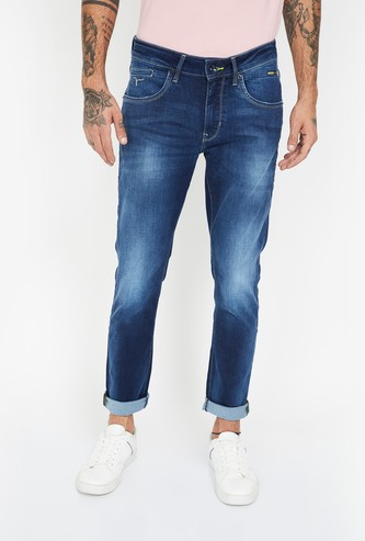 FLYING MACHINE Stonewashed Slim Fit Jeans