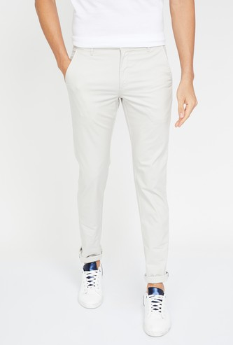 ARROW SPORT Textured Slim Straight Chinos