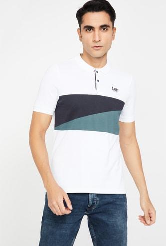 LEE Colourblocked Regular Fit Polo T-shirt
