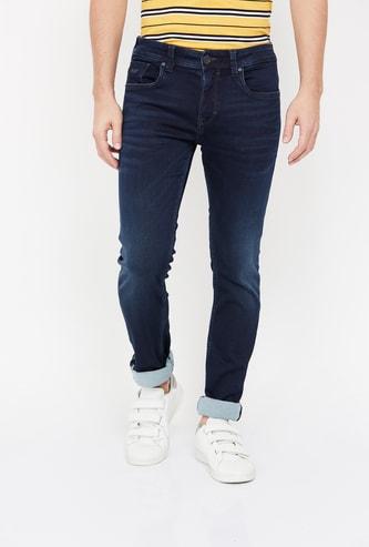 ROOKIES Men Stonewashed Skinny Fit Jeans