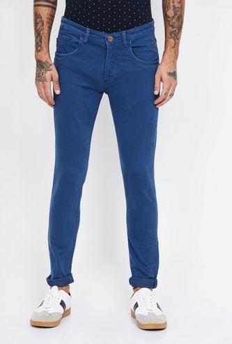 V DOT Solid Slim Fit Jeans