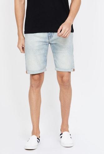 PEPE JEANS Stonewashed Regular Fit Denim Shorts