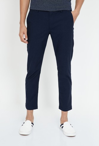 U.S. POLO ASSN. Solid Slim Tapered Trousers