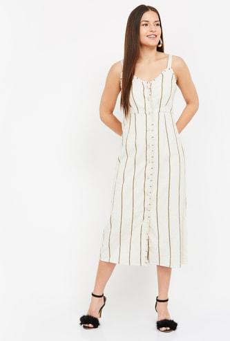 VERO MODA Women Striped Midi Dress