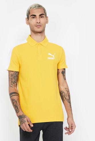 PUMA Solid Regular Fit Polo T-shirt