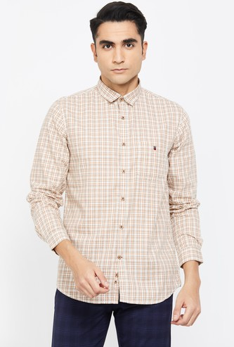 LOUIS PHILIPPE SPORT Checked Super Slim Fit Casual Shirt