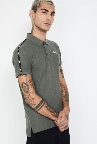 PUMA Printed Tape Detail Polo T-shirt
