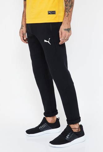 PUMA Solid Elasticated Regular Fit Track Pants