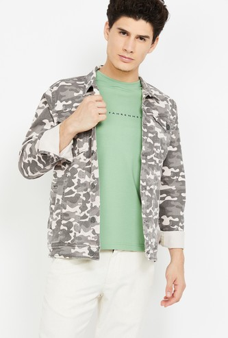 FORCA Camouflage Printed Denim Jacket