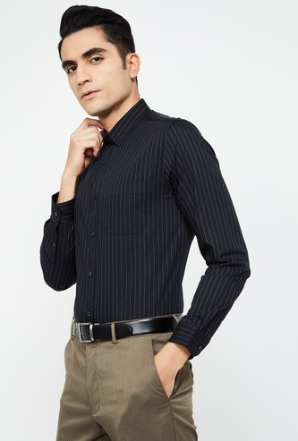 LOUIS PHILIPPE Striped Super Slim Formal Shirt