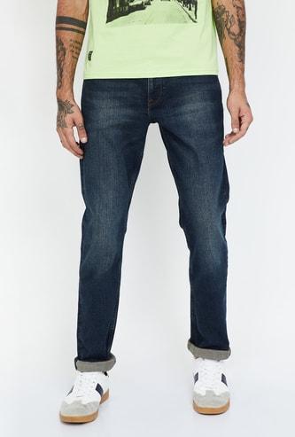 LEE Travis Stonewashed Slim Straight Fit Jeans