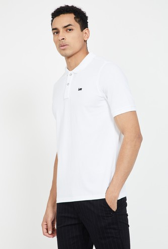 LEE Solid Slim Fit Polo T-shirt