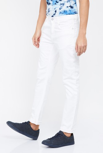 FORCA Solid Slim Tapered Jeans