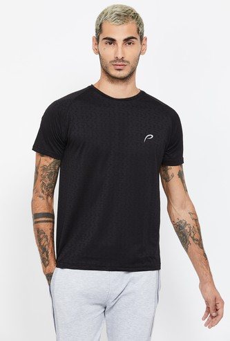 PROLINE Textured Short Sleeves Regular Fit T-shirt