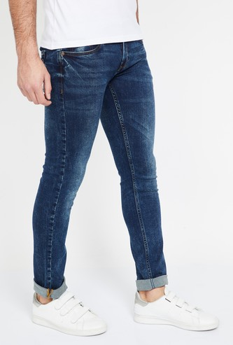 LP JEANS Stonewashed Slim Tapered Fit Jeans