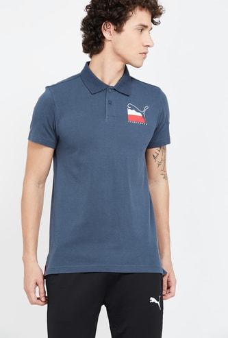 PUMA Patch Print Slim Fit Polo T-shirt