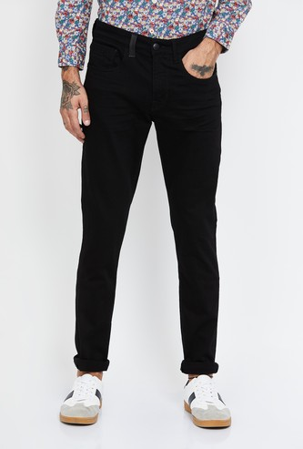 U.S. POLO ASSN Solid Slim Tapered Jeans