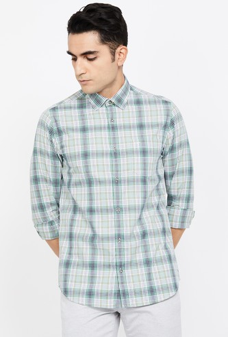 COLORPLUS Checked Super Slim Fit Casual Shirt