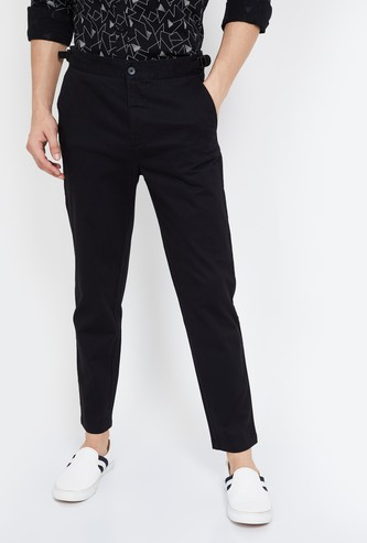 BOSSINI Solid Skinny Fit Trousers