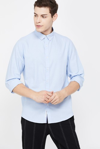 BOSSINI Men Solid Full Sleeves Slim Fit Casual Shirt
