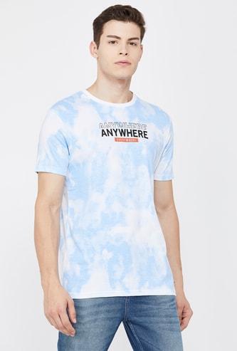 BOSSINI Men Typographic Print Regular Fit Dyed T-shirt