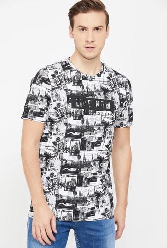 LEE COOPER Men Printed Regular Fit Crew Neck T-shirt
