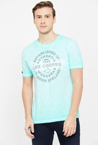 LEE COOPER Men Typographic Print Short Sleeves Regular Fit T-shirt