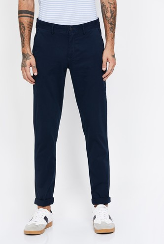 ARROW SPORT Solid Slim Fit Trousers