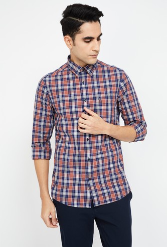 ARROW SPORT Checked Full Sleeves Slim Fit Shirt