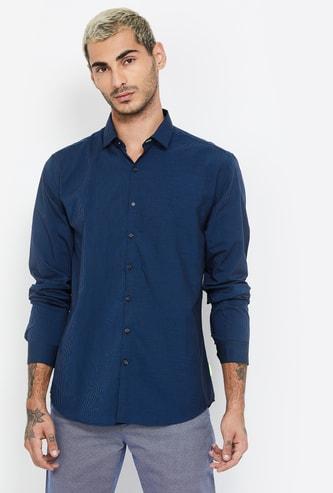 V DOT Pinstripes Slim Fit Casual Shirt