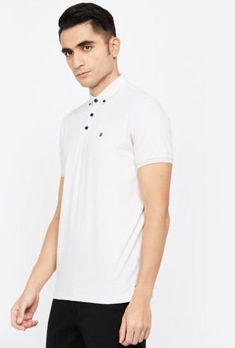 LOUIS PHILIPPE SPORT Printed Regular Fit Polo T-shirt