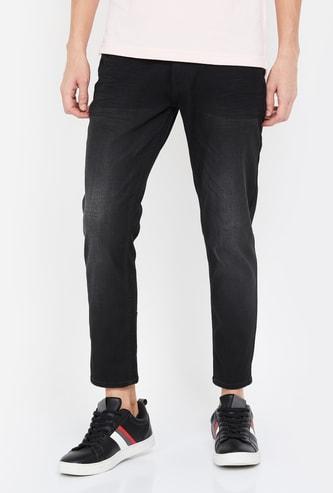 SPYKAR Stonewashed Slim Tapered Jeans