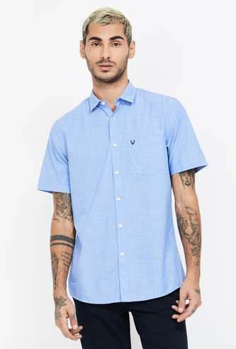 ALLEN SOLLY Solid Slim Fit Casual Shirt