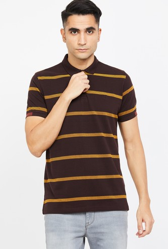 ALLEN SOLLY Striped Regular Fit Polo T-shirt