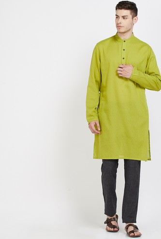 MELANGE Textured Regular Fit Kurta