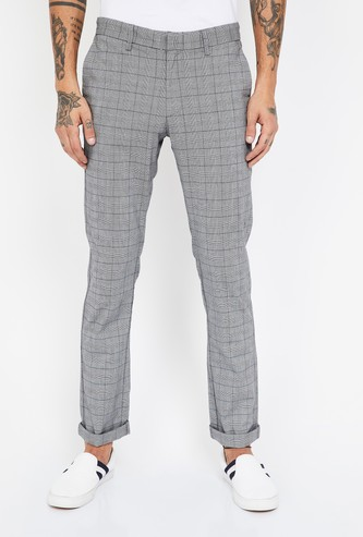 INDIAN TERRAIN Checked Slim Fit Trousers