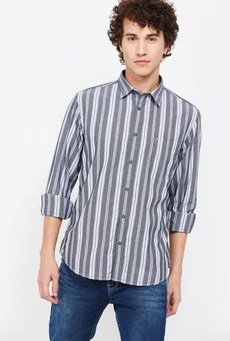 INDIAN TERRAIN Striped Slim Fit Casual Shirt