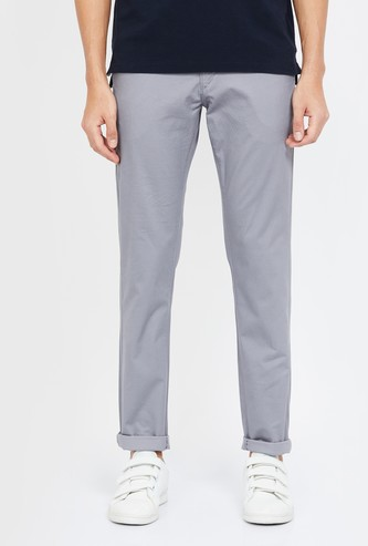 U.S. POLO ASSN. Solid Slim Tapered Chinos
