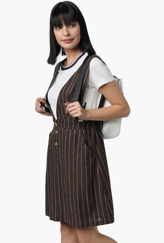 VERO MODA Striped Pinafore Dress
