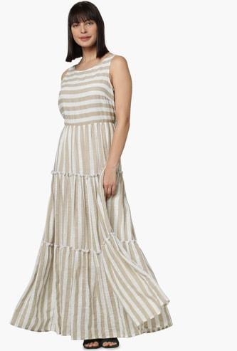 VERO MODA Striped Maxi Dress
