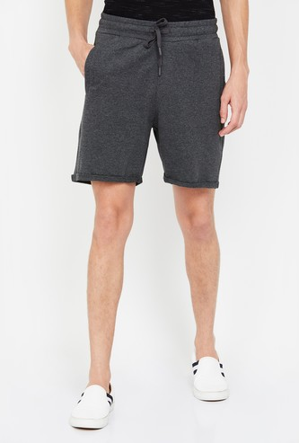 FORCA Men Solid Slim Fit Casual Shorts