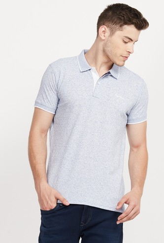 PEPE JEANS Textured Slim Fit Polo T-shirt
