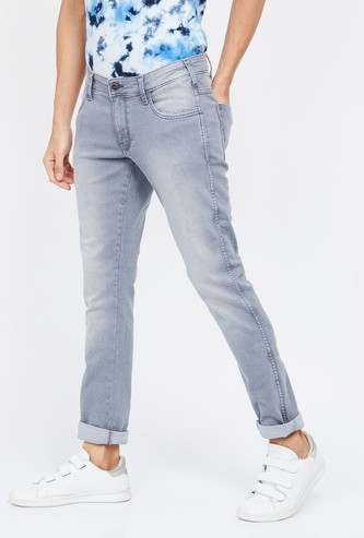 WRANGLER Vegas Stonewashed Skinny Fit Jeans