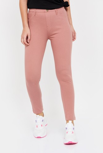 MS. TAKEN Solid Slim Fit Trousers